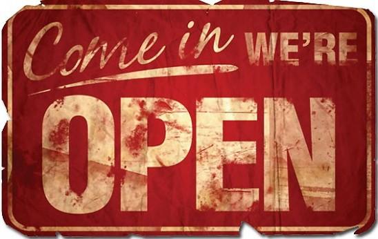 open sign vintage